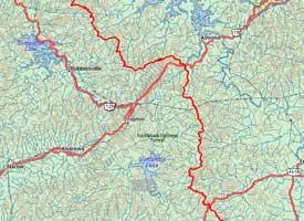 Appalachian Trail In Georgia Map.Appalachian Trail Maps Guides Trailsource Com